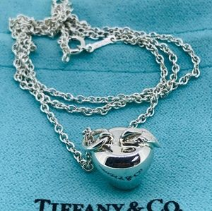NWOT Tiffany & Co Apple Charm Necklace